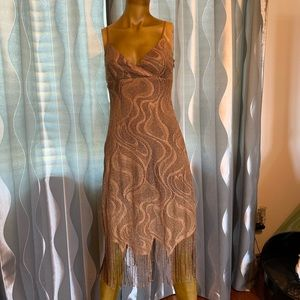 Flapper style copper color dress